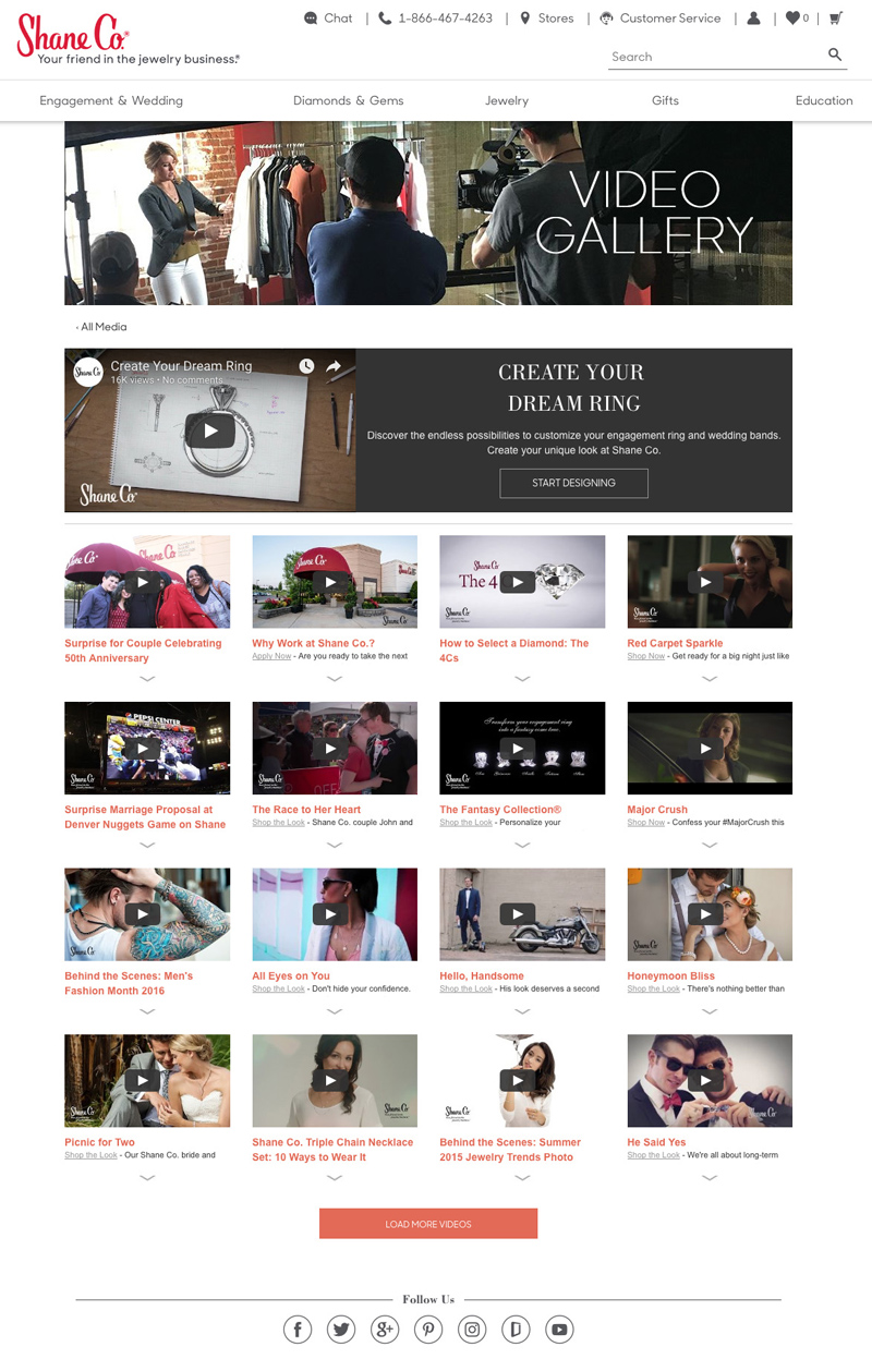 Video Gallery Landing Page